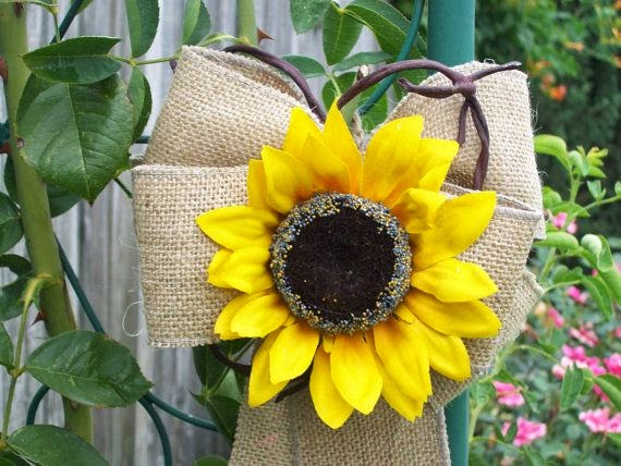 sunflower wedding reception decor