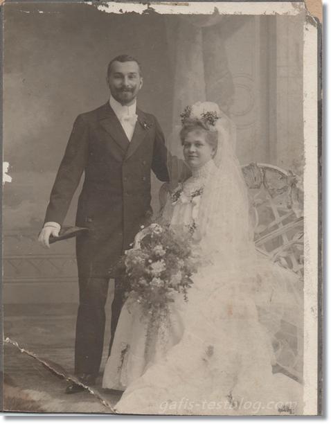 Hochzeitsfoto - Urgroßeltern Paul und Gisela Prause