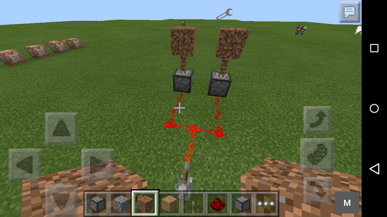 how to use a dispenser in minecraft pe