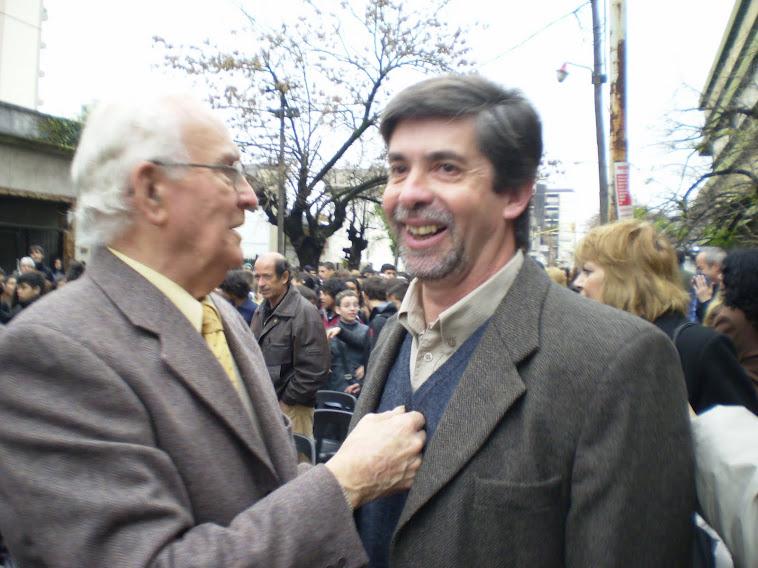 Sarramone y el Ingeniero Antonio Ibarbide, sobrino del Profesor Agustín  Rogelio Vidal