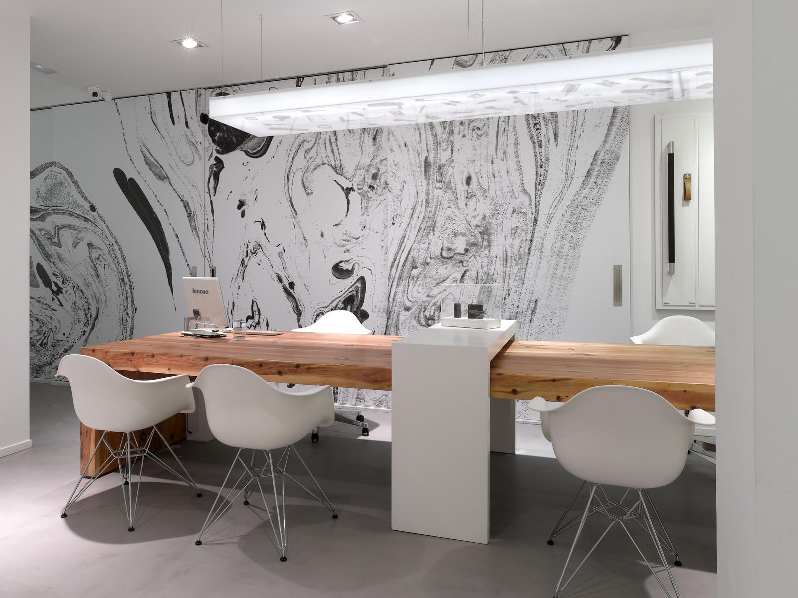 Labores modernas labores modernas para el picaporte de for Imagenes de oficinas decoradas