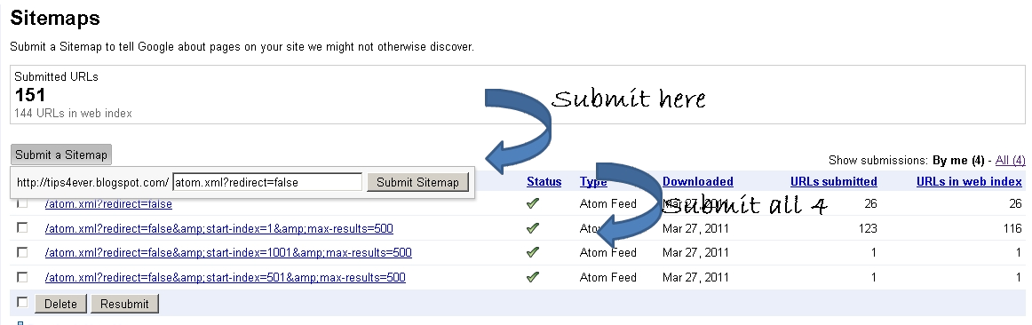 how to add a blogger sitemap to google
