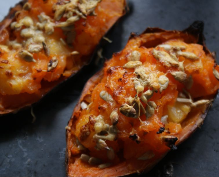 The KitchenMaid-: Baked kumara, Hawaiian style