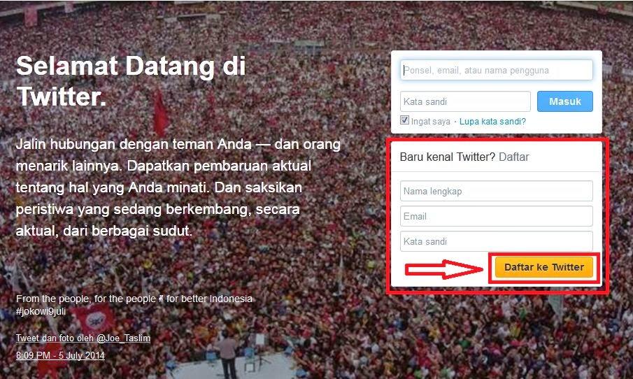 6 Langkah dalam membuat Akun Twitter Baru