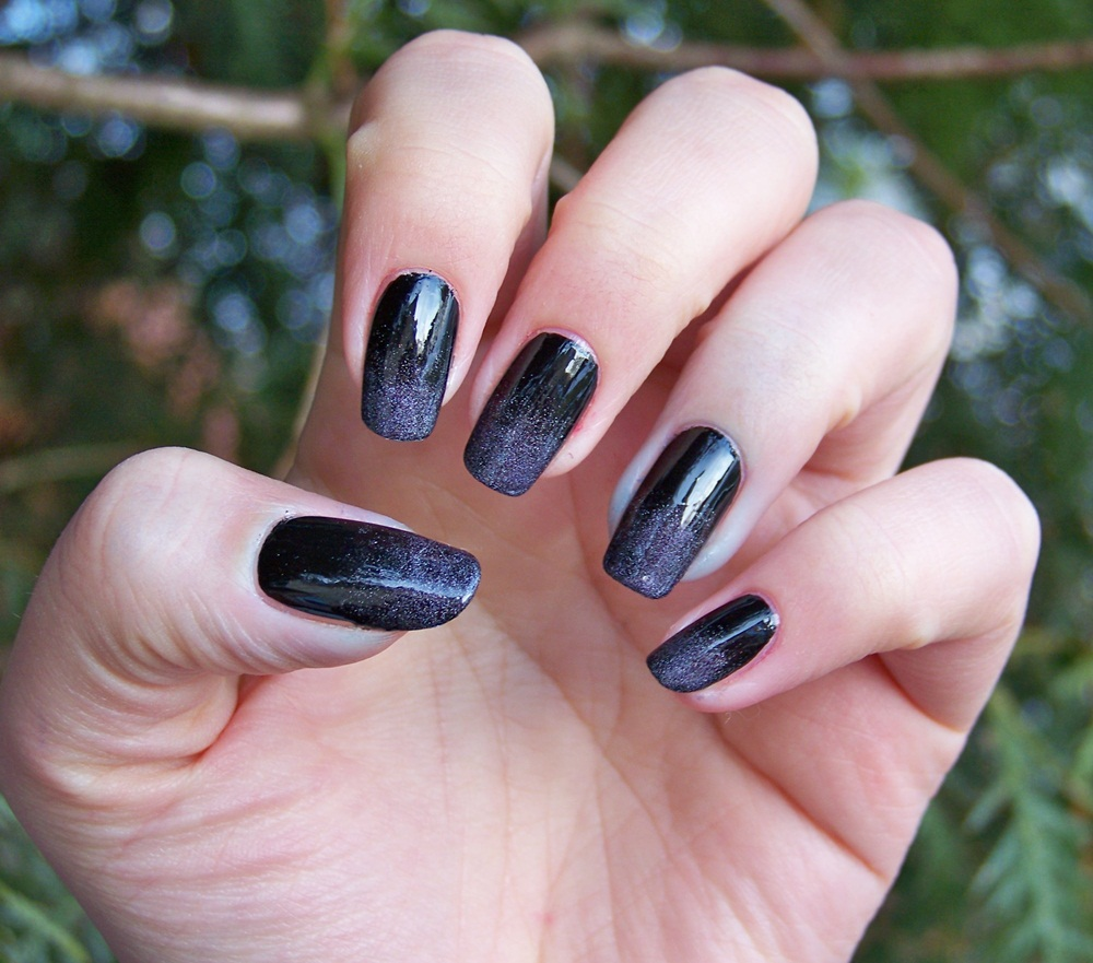Love For Nails Sylwestrowe Czarne Ombre