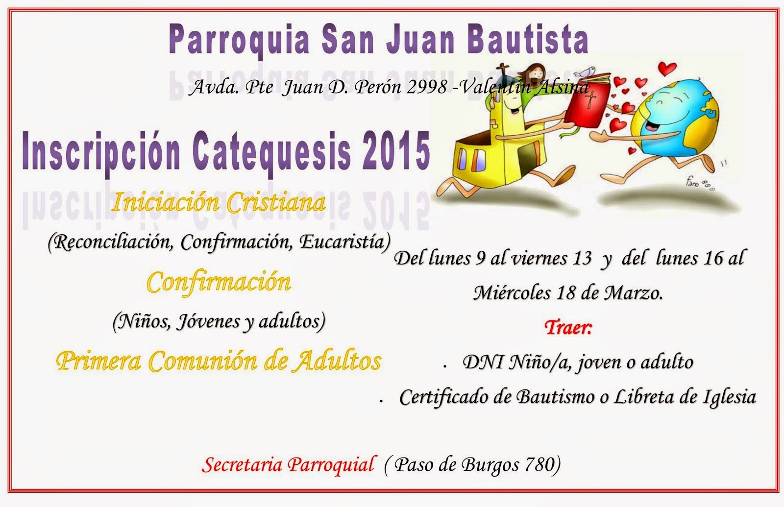 CATEQUESIS 2015