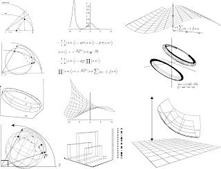 科学的な数式の背景 Scientific formulas backgrounds イラスト素材7