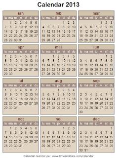 Calendar 2013 - 7