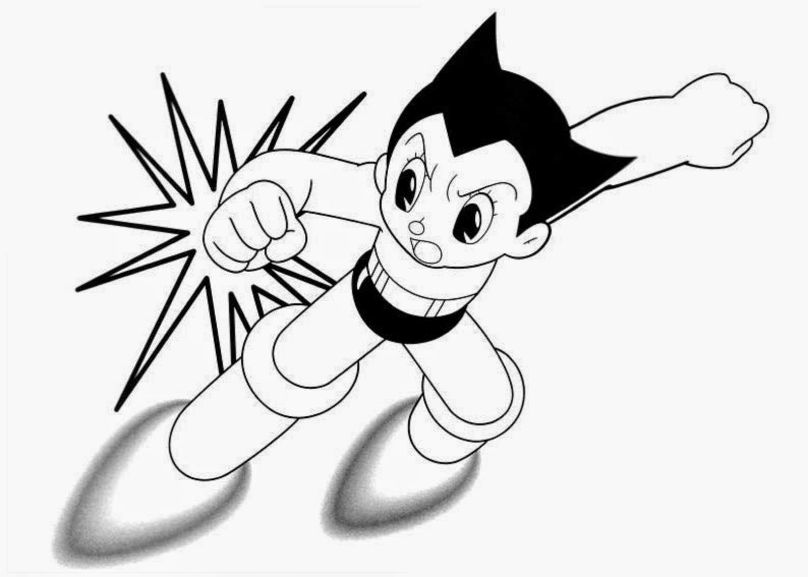 Astro boy coloring drawing free wallpaper anggela for Astro boy coloring pages free