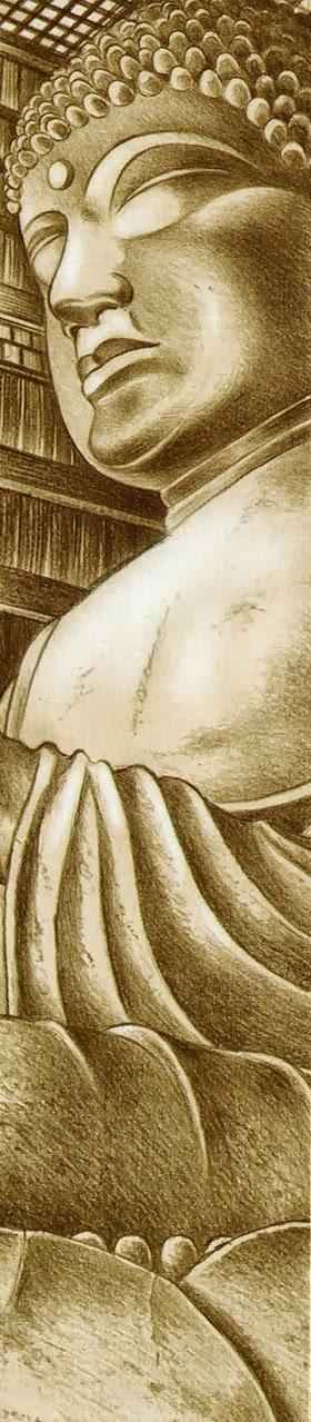 Le grand Bouddha la fixait de son regard divin...