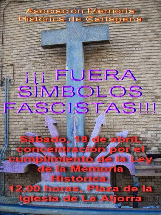 Concentración: Por la retirada de los símbolos franquistas