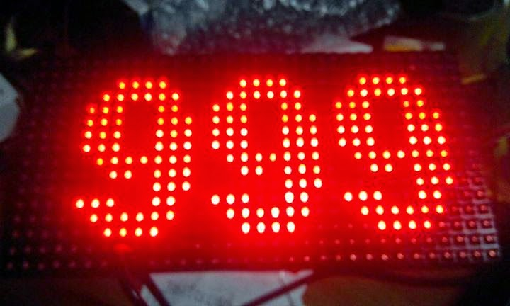 display antrian 3 digit dot matrix