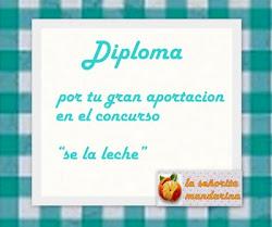 """Diploma Concurso """"Sé la leche"""""""