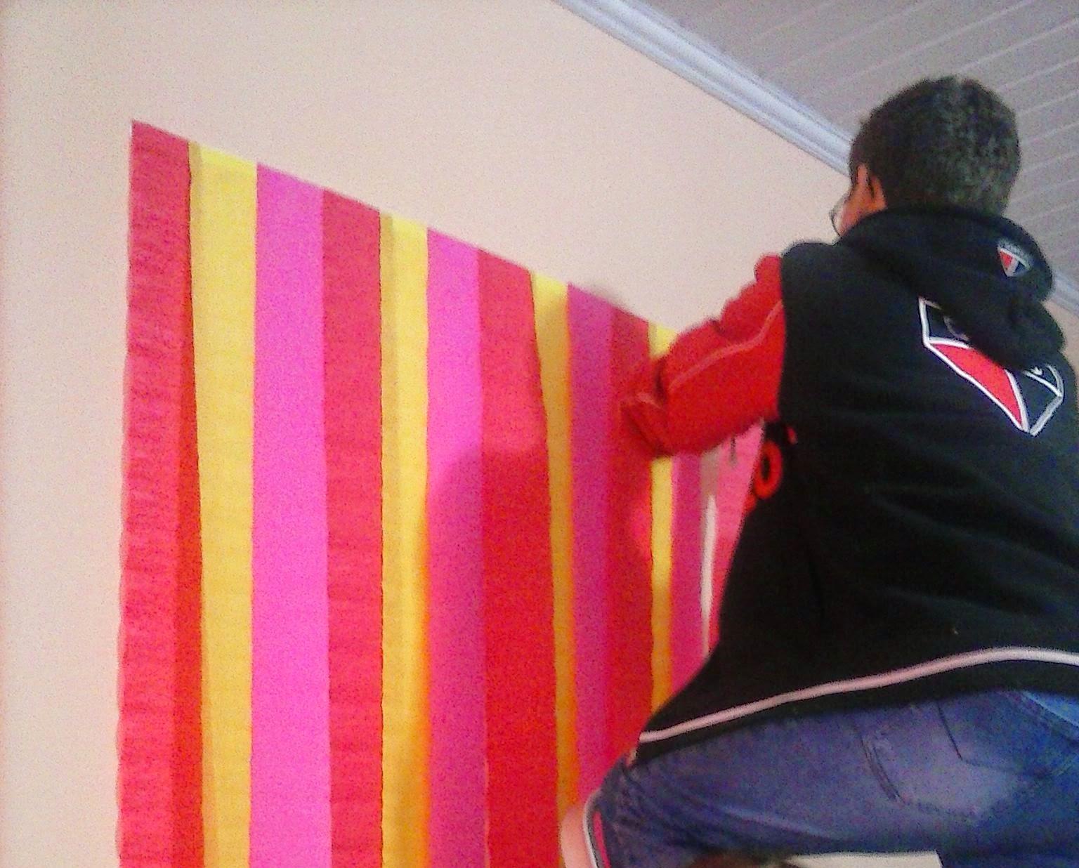 M ri volpato decorando festa infantil gastando pouco for Papel para paredes baratos
