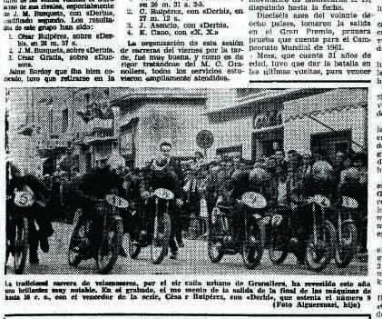 Blog de jose maria alguersuari hace 50 a os hab a motos y - Fotografos en granollers ...