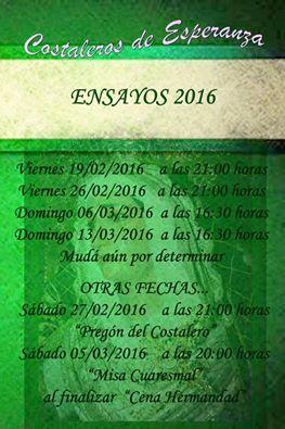 ENSAYOS ESPERANZA 2016