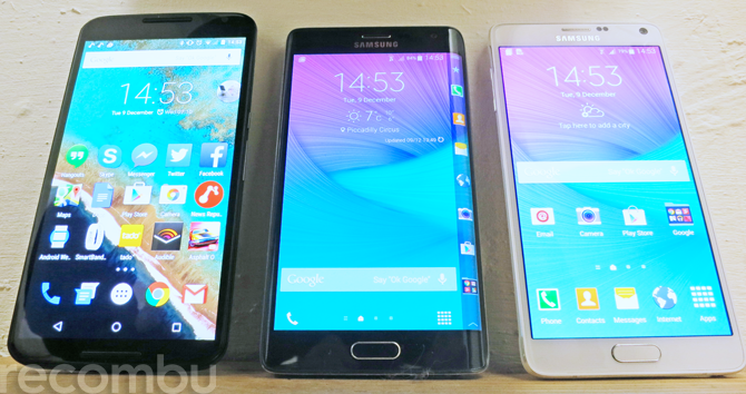 Nexus 6 vs Note Edge vs Note 4