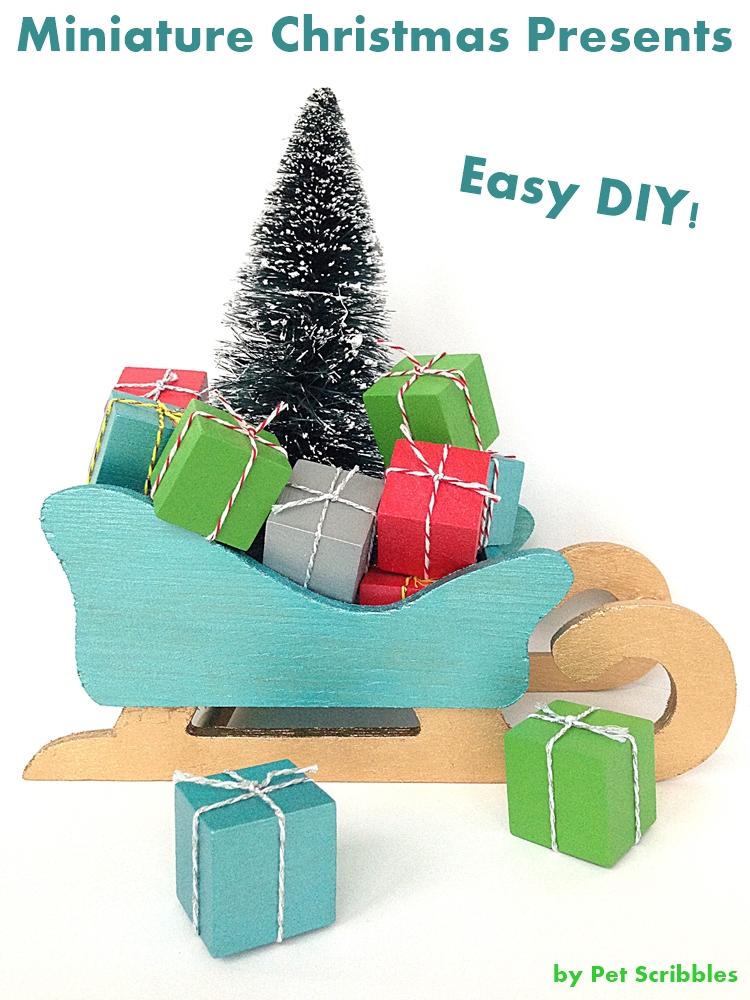 Christmas Craft: Miniature Christmas Presents
