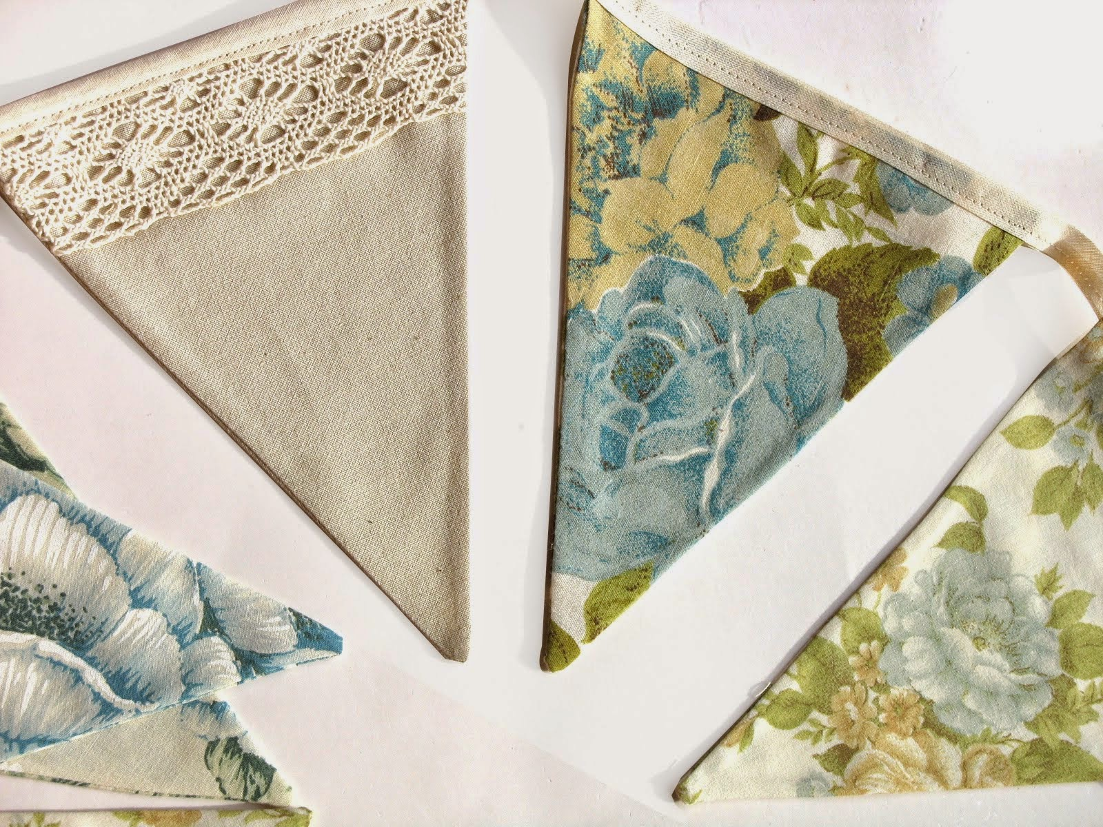 Vintage Lace Flag Bunting