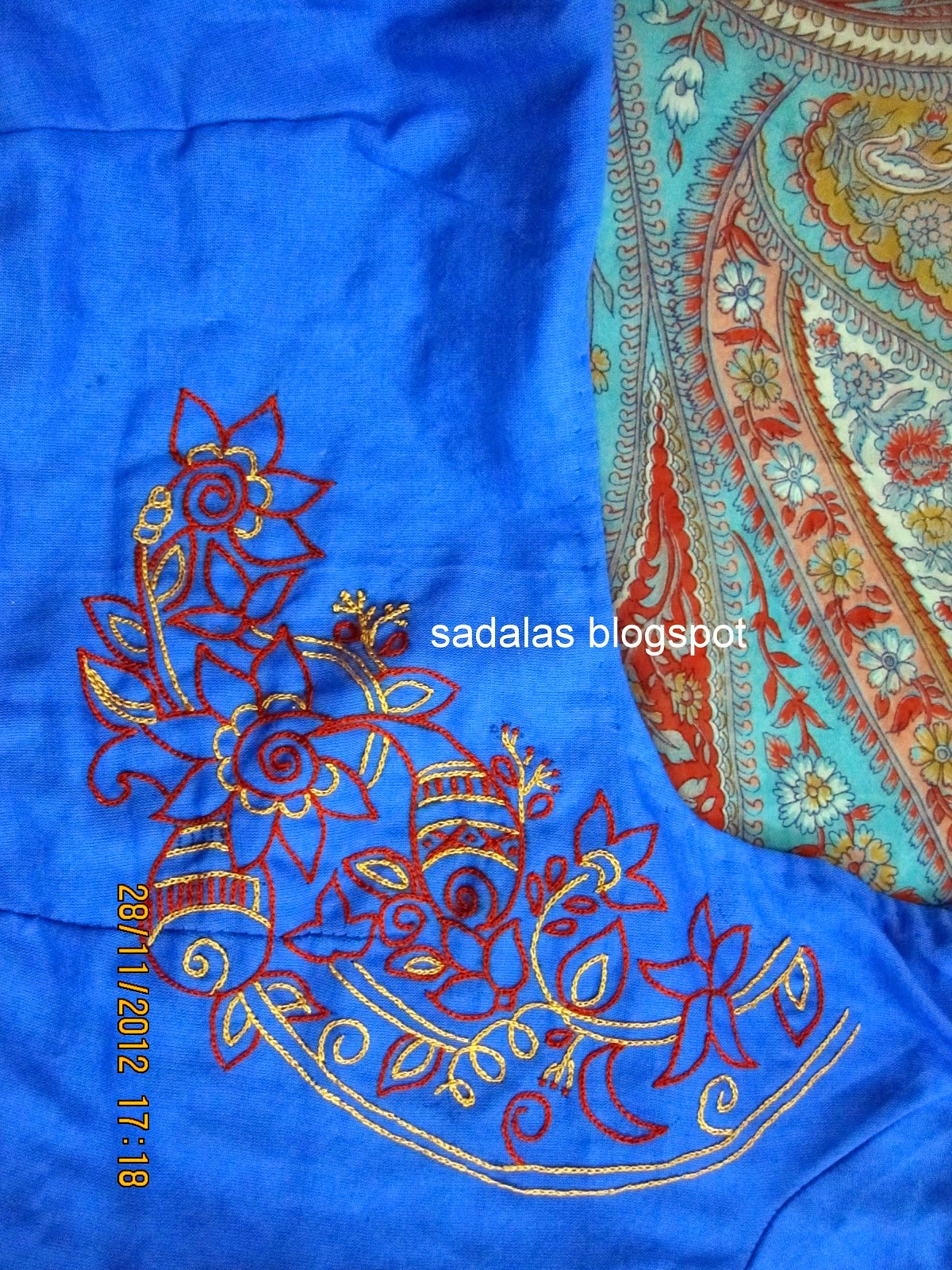 Chain stitch embroidery designs for sarees makaroka sadala39s embroidery chain stitch saree blouse bankloansurffo Images