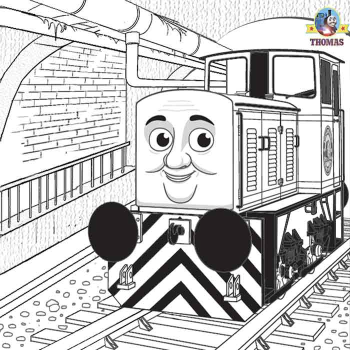 Thomas And Friends Dart Diesel Train Coloring Teenage Difficult Printable Online Art Lesson Sheets