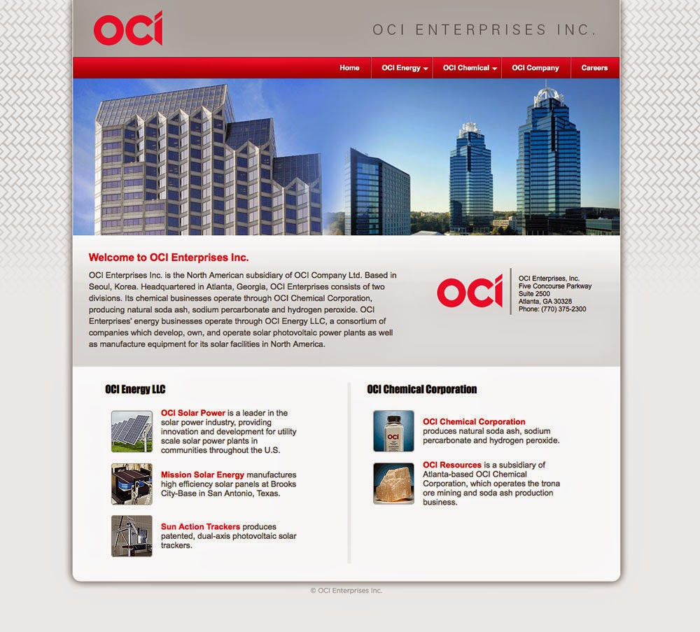 OCI Enterprises web site