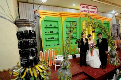 Kamera Antik Sebagai Dekor Pernikahan