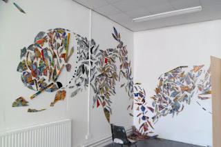 Resurgence mixed media installation May 2012