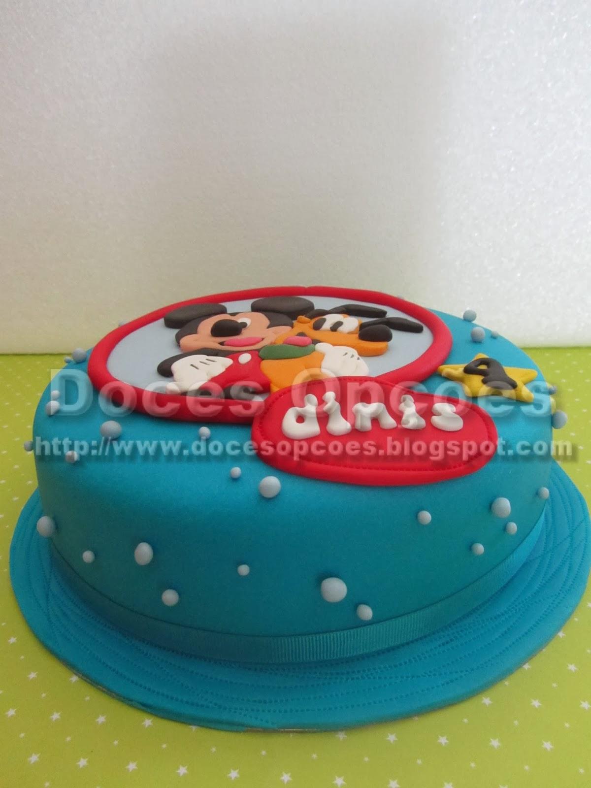 bolo aniversário bragança mickey