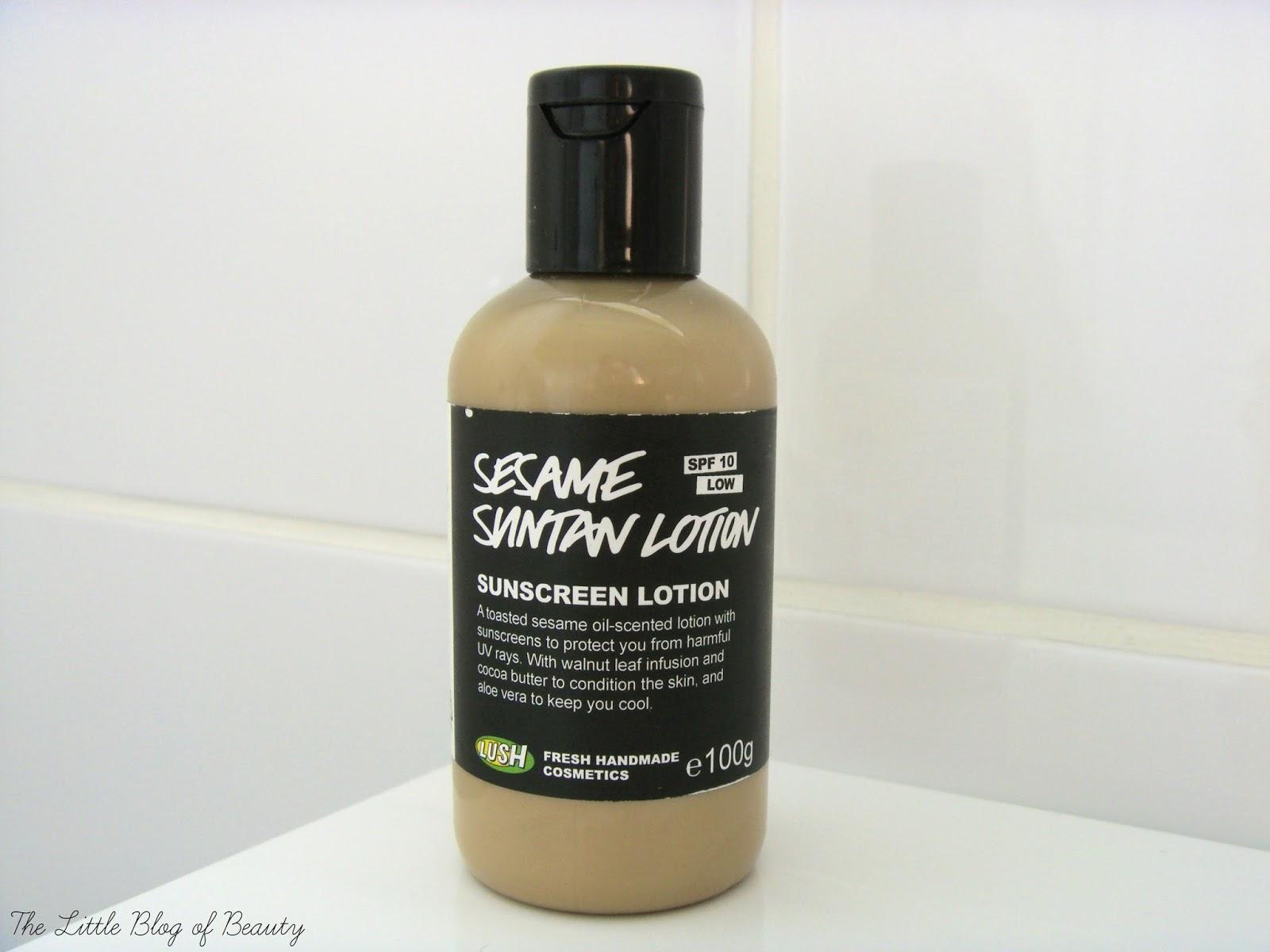 Lush Sesame suntan lotion