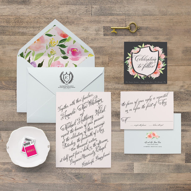 Amanda Wedding Suite // Blush Paper Co. // www.blushpaperco.com