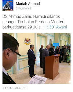 Kenyataan Rasmi Perdana Menteri Terhadap Rombakan Kabinet