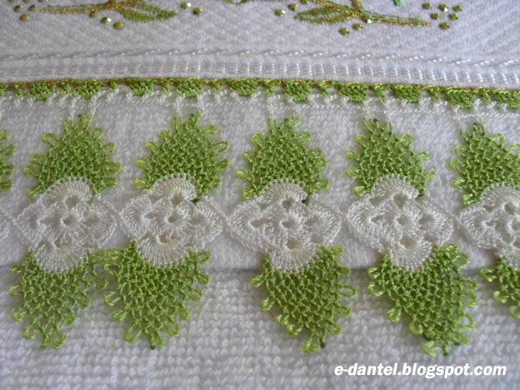 Çiçek Motifli Havlu Kenarı Dantel Modelleri