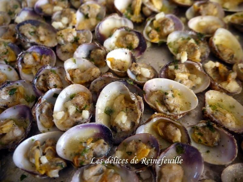 Les d lices de reinefeuille palourdes gratin es pour l 39 ap ro - Comment cuisiner des palourdes ...