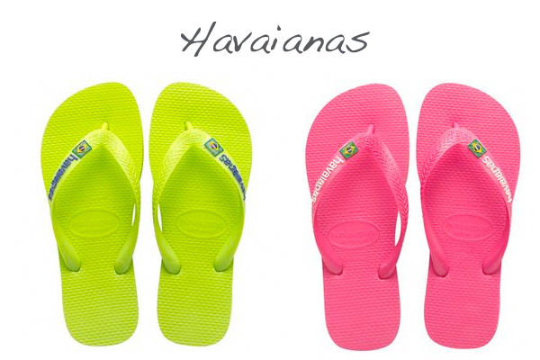 Havaianas fluo shoes on www.designandfashionrecipes.com