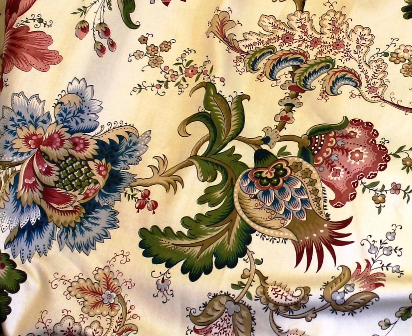Vintage Jacobean Floral Fabric
