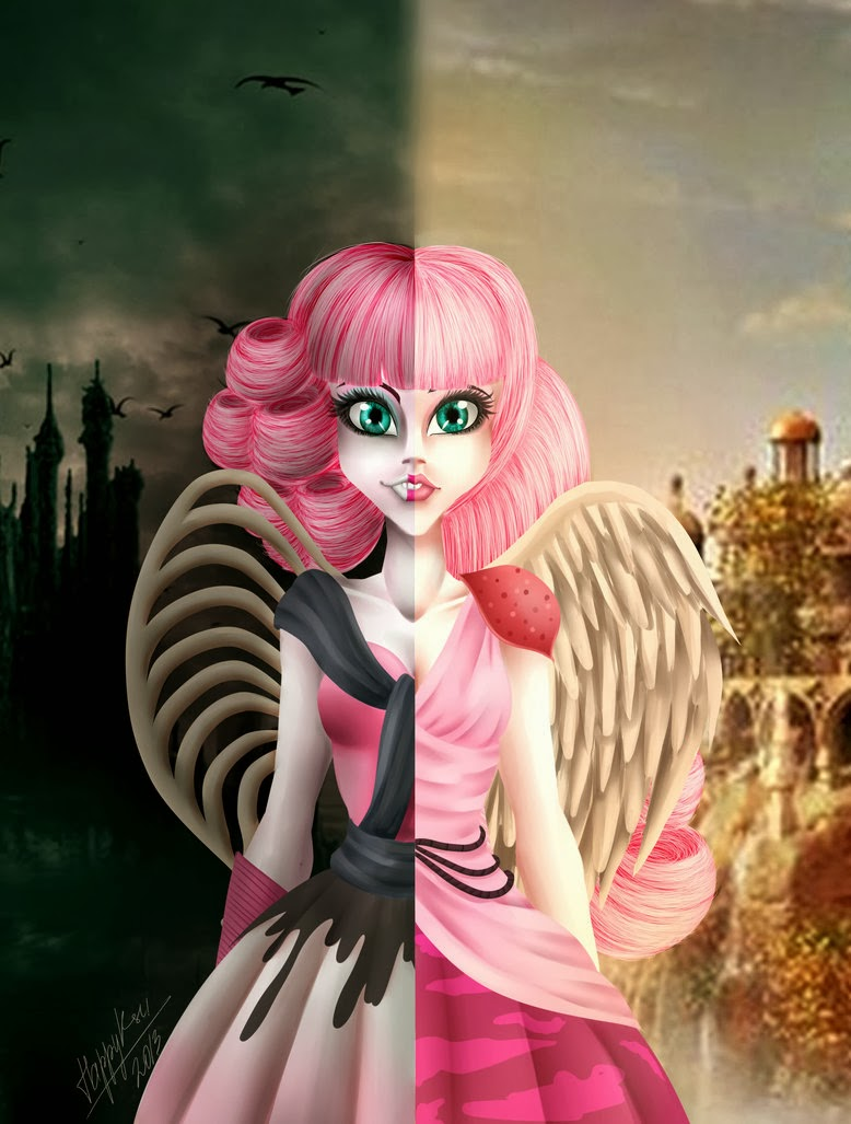 Lizzie hearts ever after high doll fan art ever after high