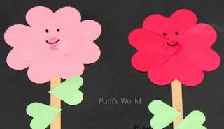 Kids Flower Spring Crafts Heart