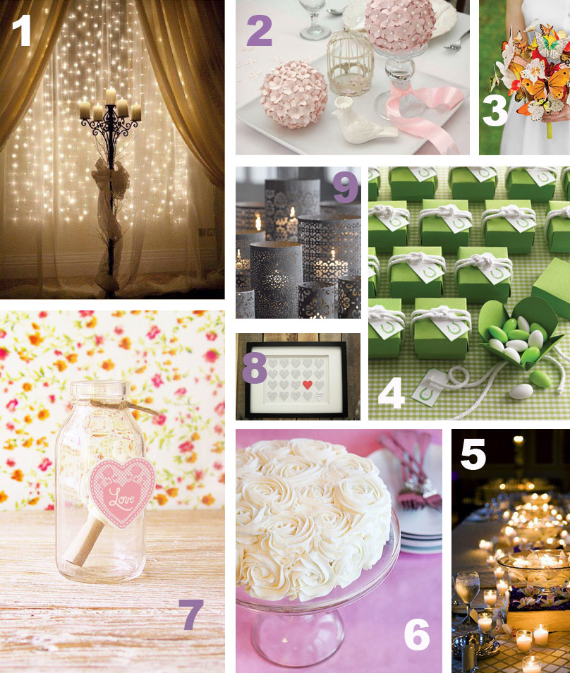 1 DIY wedding backdrop 2 DIY paper flower poms