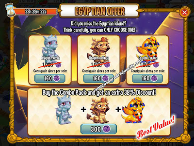 imagen de la oferta especial egipcia de dragon city
