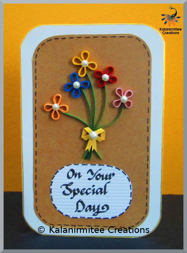Simple Quilled Birthday Card Kalanirmitee Creations