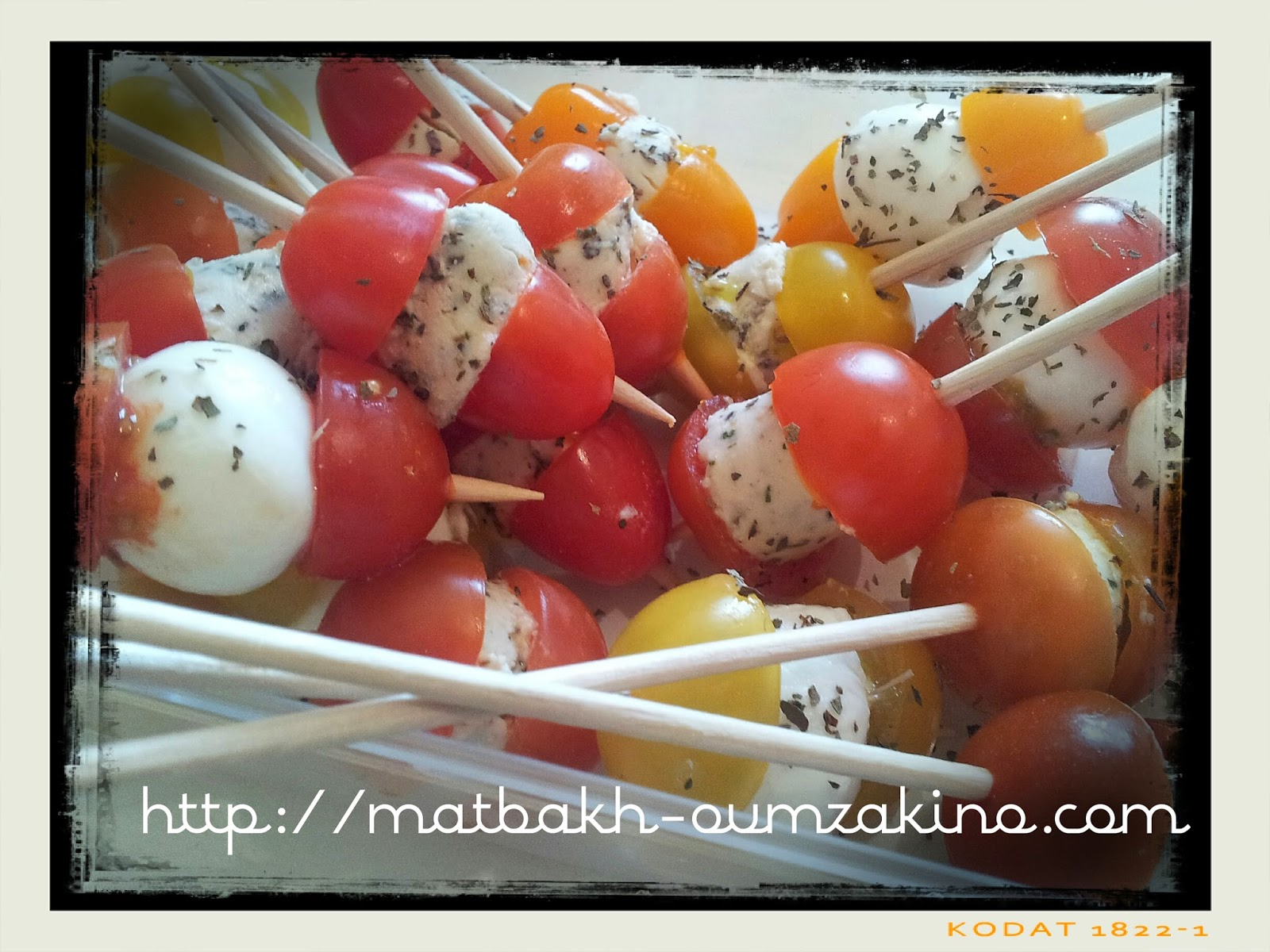 tomate cerise fromage ail et fine herbe matbakh-oumzakino