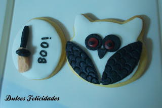 Galletas buho halloween fondant