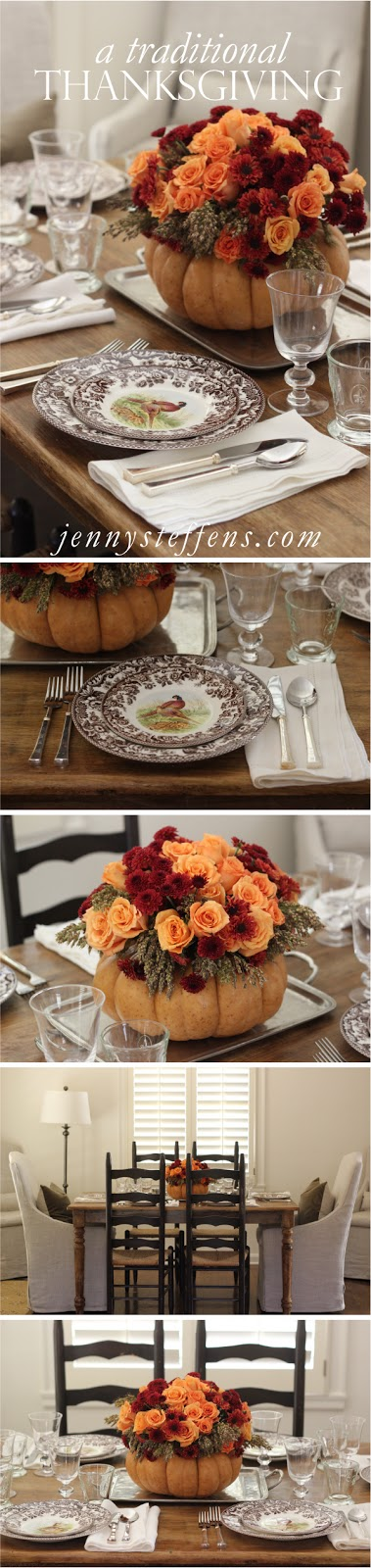 Jenny Steffens Hobick: Thanksgiving Table Setting | DIY Flower ...