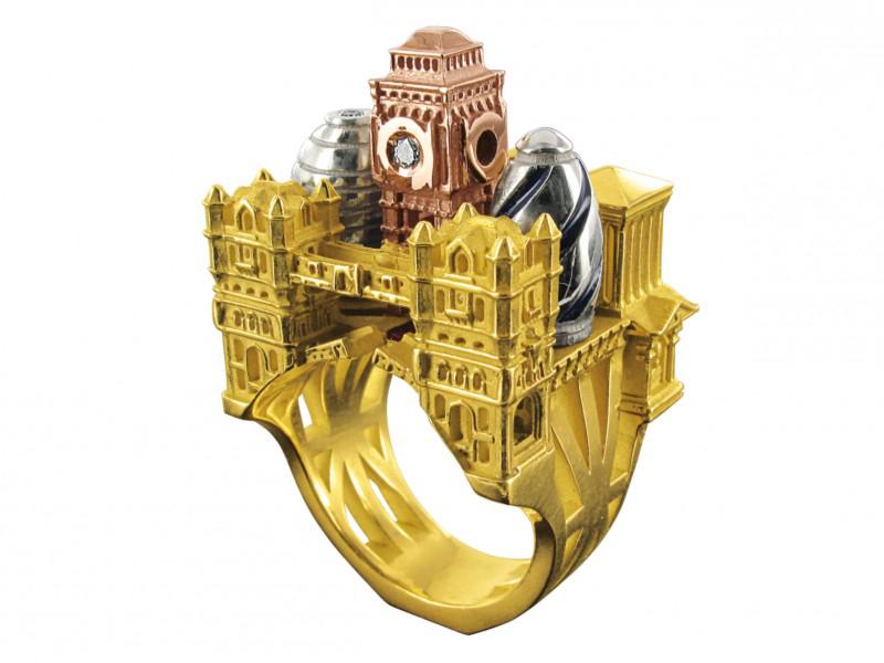 London Ring Jewelry Engagement Elephant