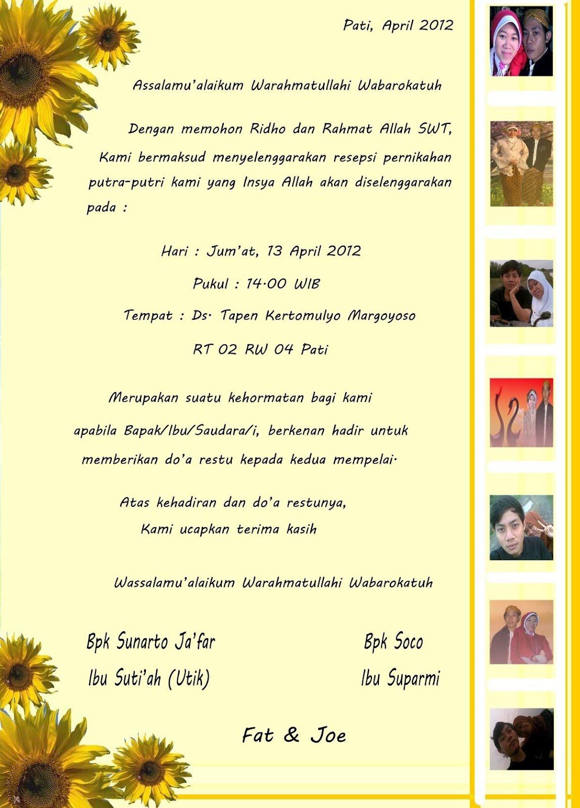 Reach Your Dream 2012 Blouse Rahmat Flower Undangan Pernikahan Suparjo Dan Siti Fatimah