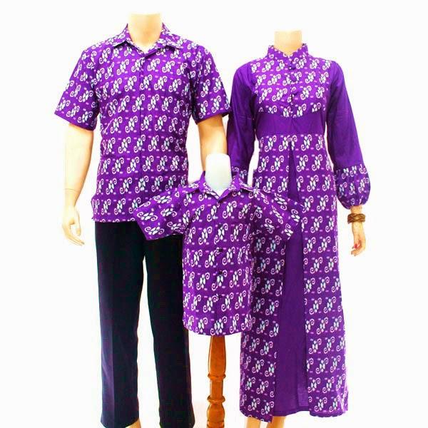 SK037 Model Baju Sarimbit Batik Modern Terbaru 2014