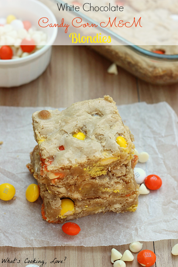 White Chocolate Candy Corn M&M Blondies