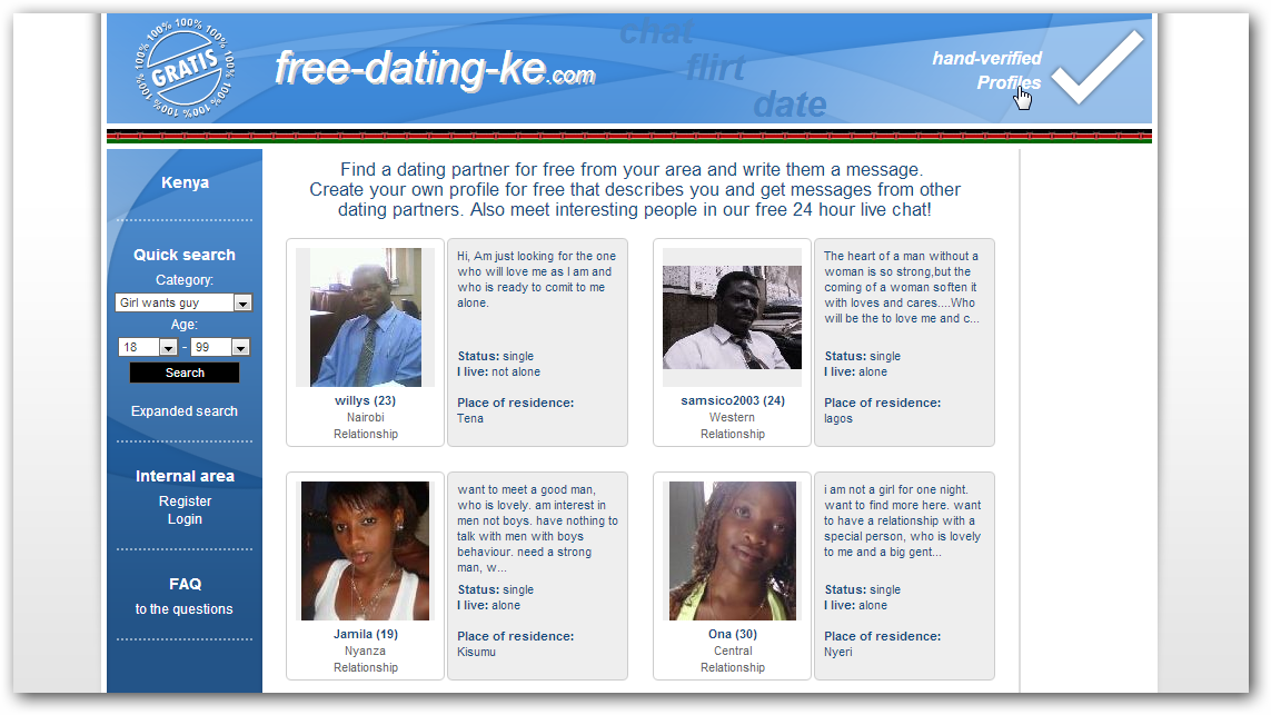 online dating in kenya See experts' picks for the 10 best dating sites of 2018 compare online dating reviews, stats, free trials, and more (as seen on cnn and foxnews.
