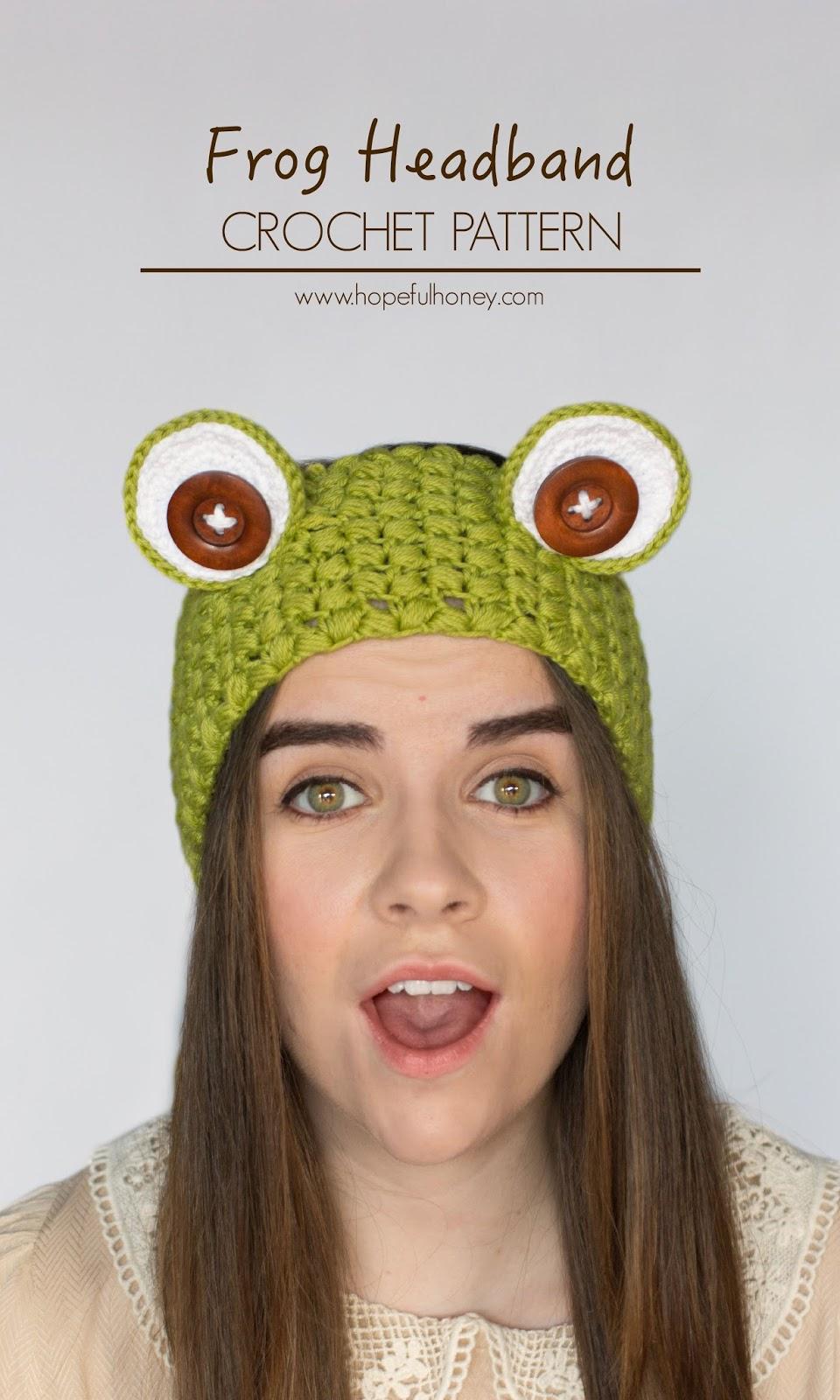 Hopeful Honey Craft, Crochet, Create: Frog Headband ...